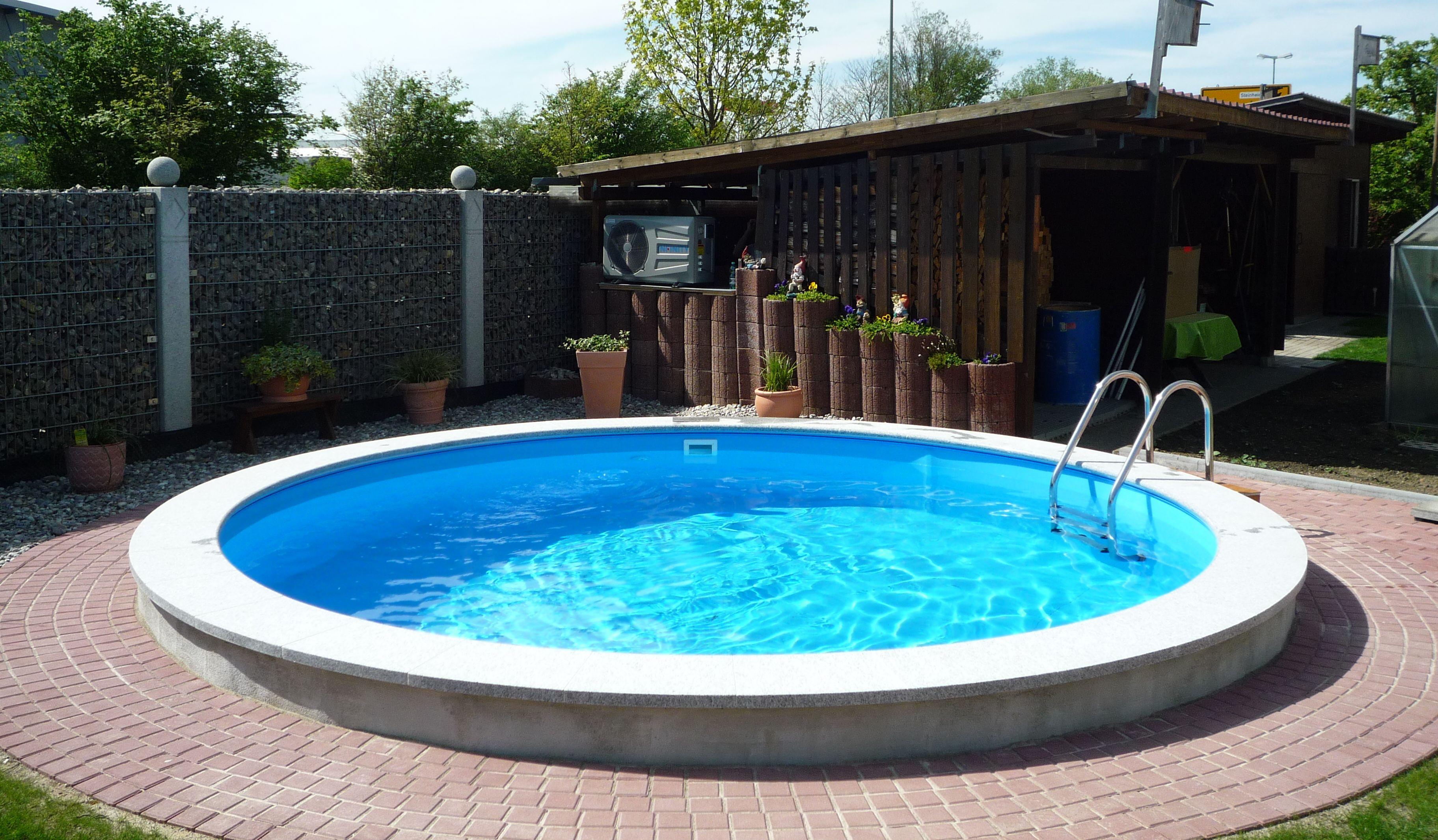 Bauen sie ihren pool selbst wir helfen for Folie pool rund