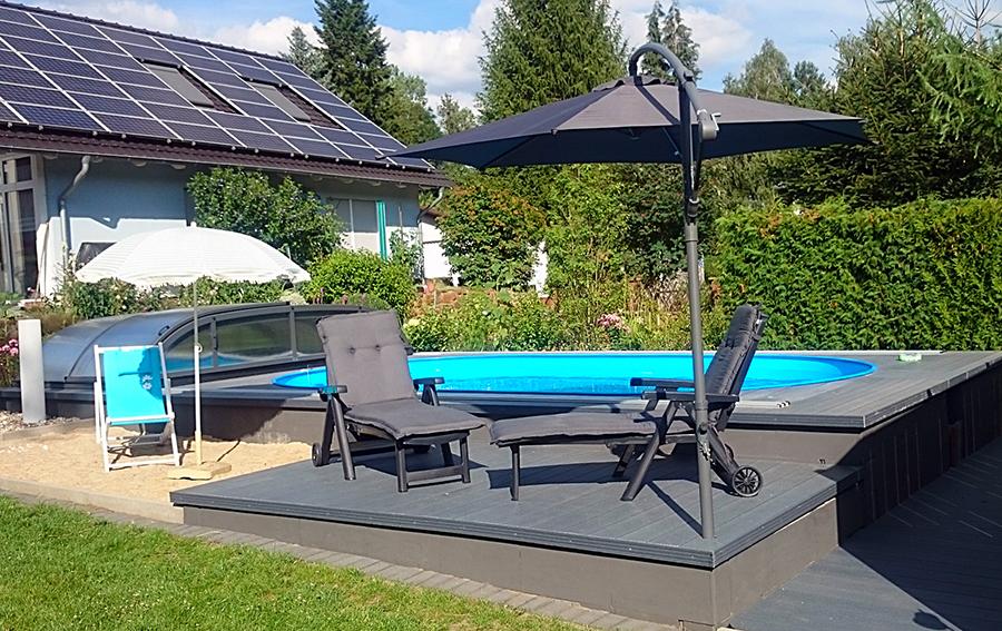 pool in terrasse integriert gfk pool sonstiges fr den garten balkon terrasse with pool in. Black Bedroom Furniture Sets. Home Design Ideas